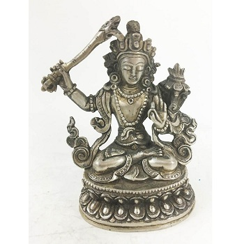 Tibet Buddhism Joss Silver Tara Goddess Statues