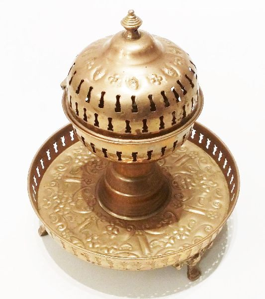 Vintage Ceremonial Incense Brass Burner