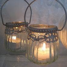 Wrought Iron Lantern Candle Holders