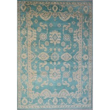 Hand Knotted Great Deal Oushak Rug Geometric Carpet (UDOUS004)