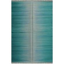 Handmade Wool Rainbow Area Design Rug Durry Carpet (USF1509)