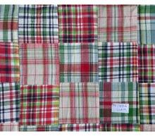 patchwork madras plaid fabric