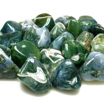 moos agate tumbled stones