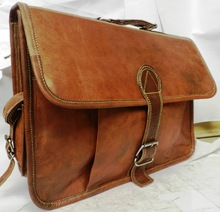 Leather Laptop Briefcase Satchel Messenger Bag