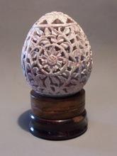 easter egg carved