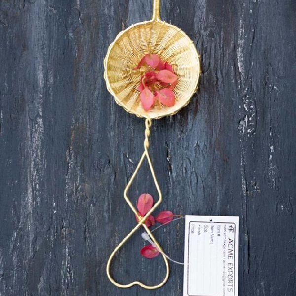 Brass Wire Mesh Heart Handle tea strainer