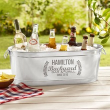 Galvanized Metal Camping Beer Tub