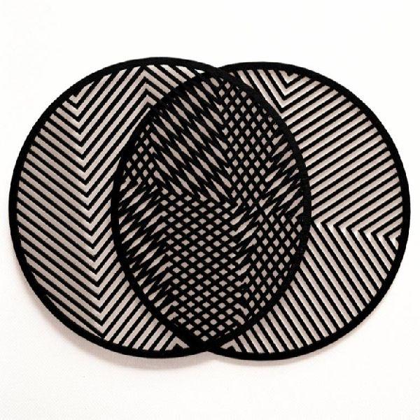 Laser Cut Black Paint Coasters