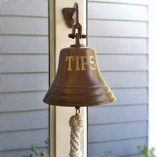 Outdoor brass dinner bell