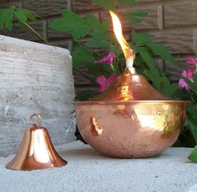 Tabletop tiki torch church oil lamp