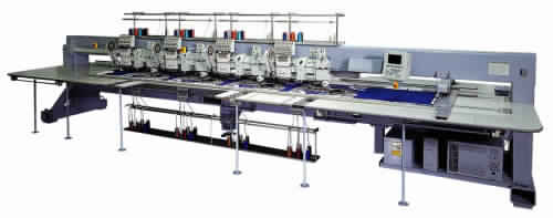 Barudan BEXS-HLCLZ1104 - Triple Combination Embroidery Machine with Sequin