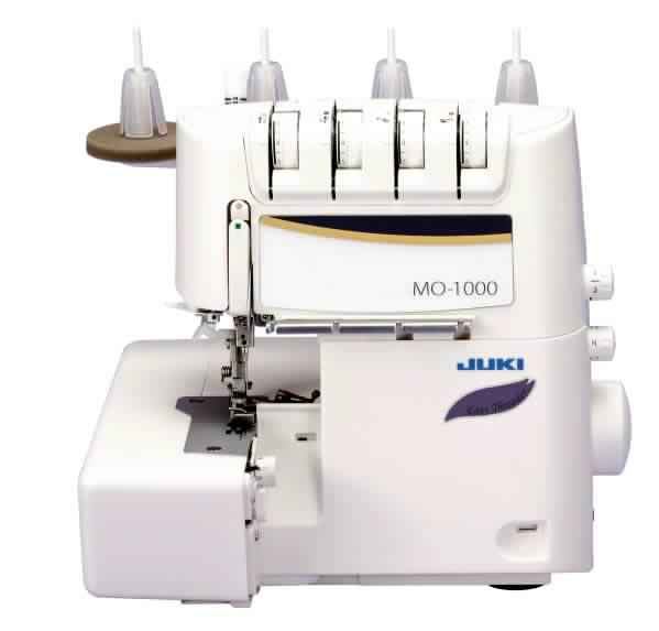 Juki MO-1000 is a 2-Needle, 2/3/4/5-Thread Overlock Machine with Differential Feed