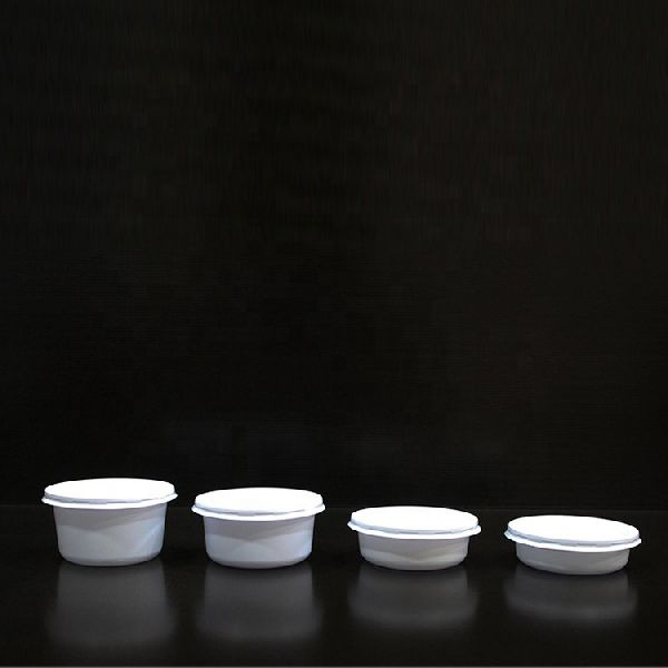 Disposable White Plastic Food Container