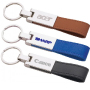 Metal Keychains with Leather Strap