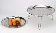 Stainless Steel Round Tray with Leg