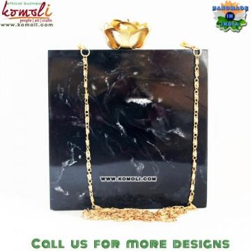Black Smoke Resin Box Clutch