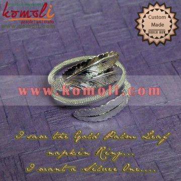 Brass Silver Coated Napkin Rings