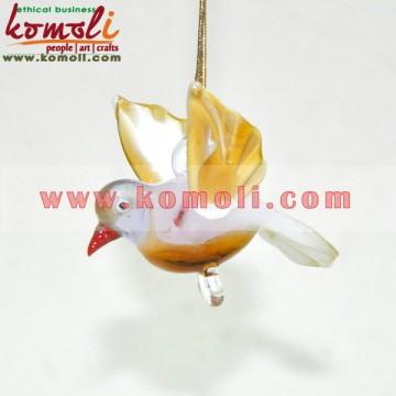Cute Little Hanging Glass Bird