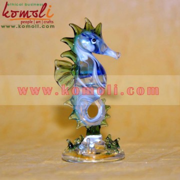 Flameworking Sea Horse - Glass Handmade Desk Decor