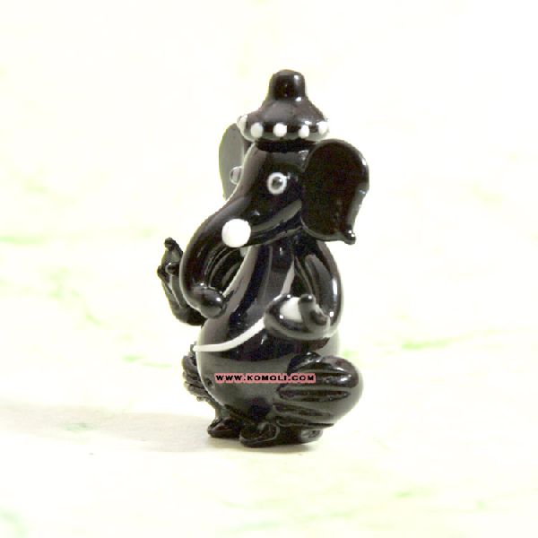 Lampworking glass crystal Ganesha statue