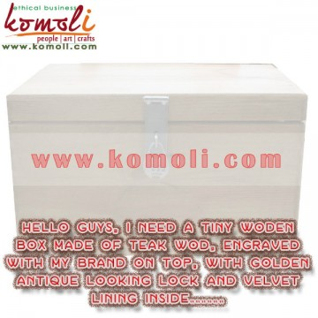teak wood box
