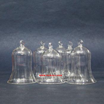 Transparent blown working Christmas glass