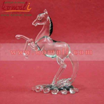 Transparent Boro Glass Horse