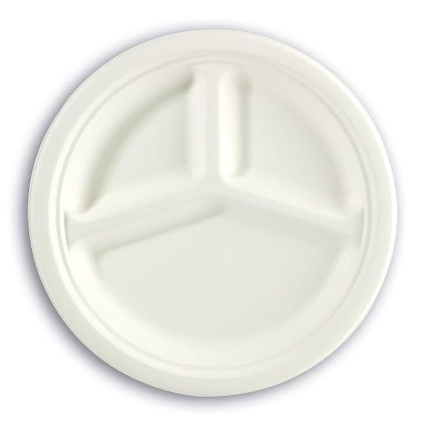 3-Comp. Biodegradable Moulded-Fibre Plate