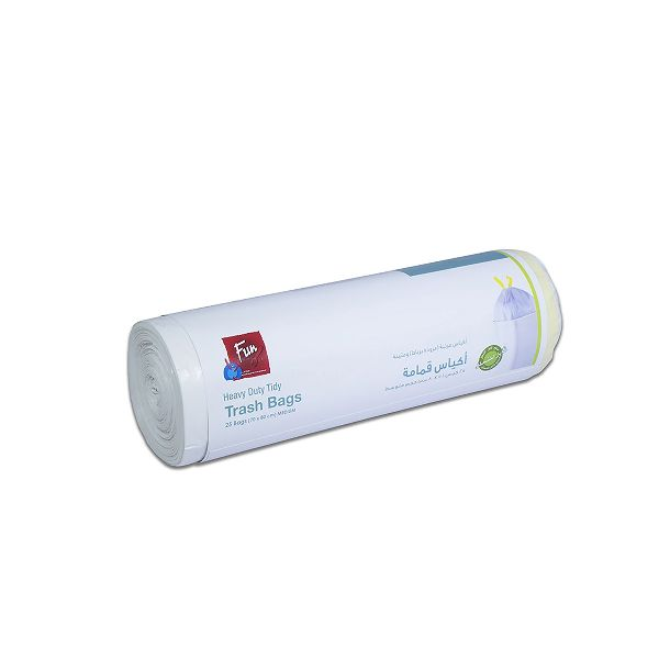 Biodegradable Garbage Bag On roll w/ Tie 70x80cm - White