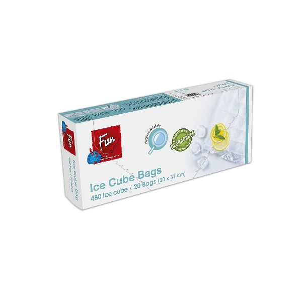 Biodegradable Ice Cube Bags 20x31cm - 24cubes