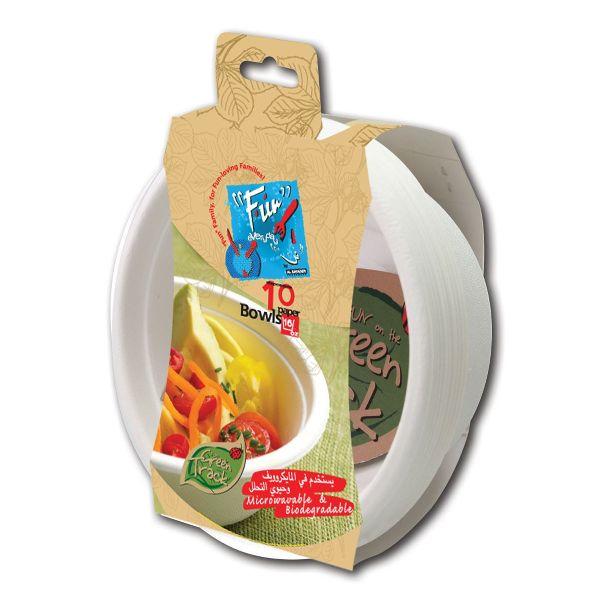 Biodegradable Moulded Fibre Bowl 16oz