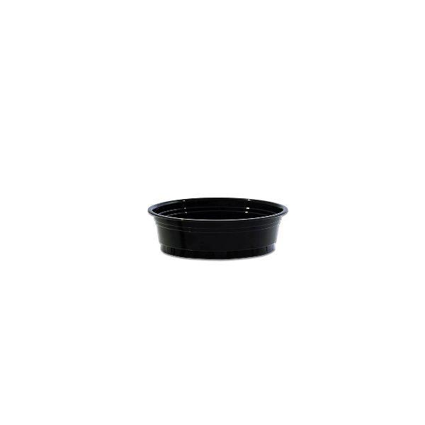 Black Portion Cups w/o Rim