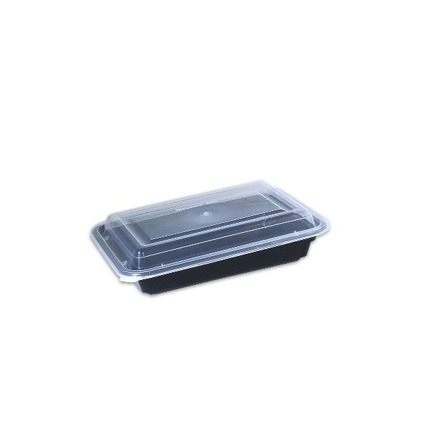Black Rect. Microwavable Container