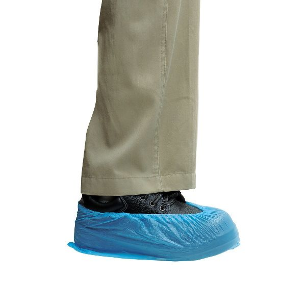 CPE Shoe Cover 14in - Blue/Embossed