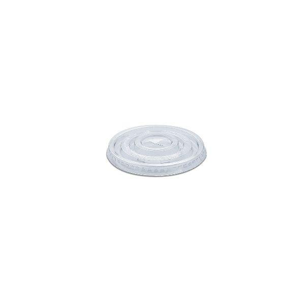 Flat Lid w/ Straw Slot (Pre-Cut x) for PET Clear Cups
