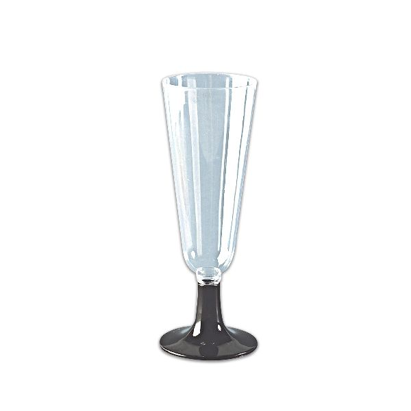 Flute Glass 6oz - Black Base