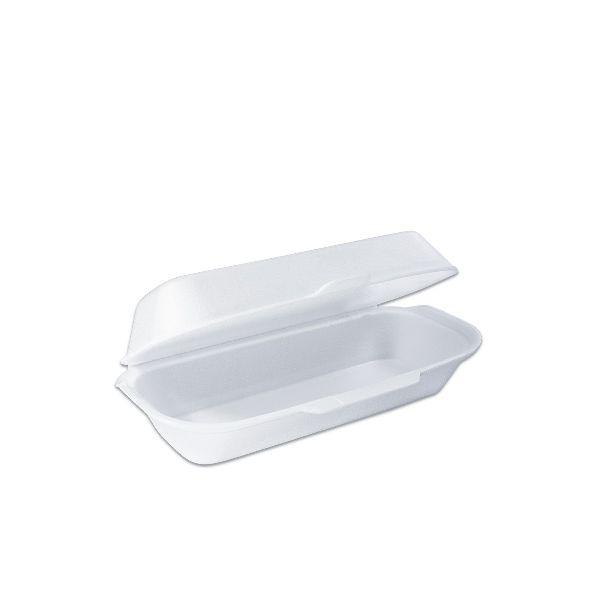 Foam Hot-Dog Box w/ Hinge Lid