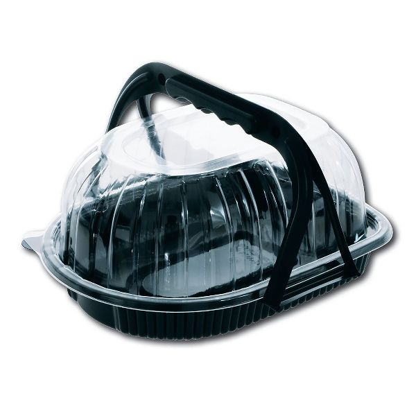 Large Chicken Container (Black Base Clear Cover) w/ Handle
