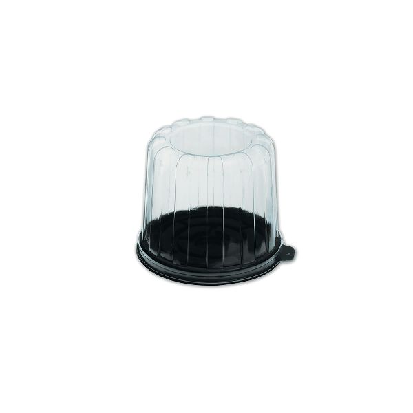 Muffinpac Individual Muffin Black Box w/ Clear Dome Lid