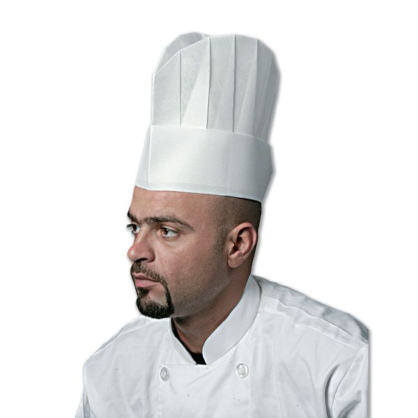 Non-woven Chef Hat 10in - Flat Top