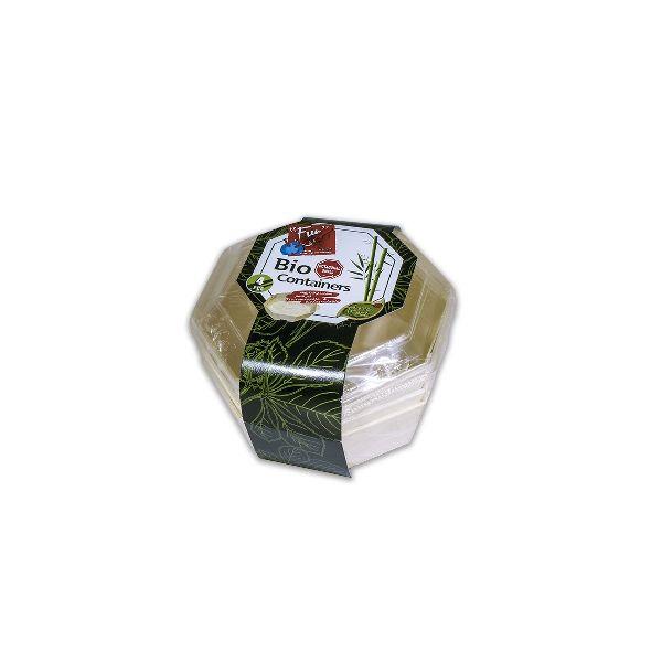 Octagonal Wooden Cont. 13x4cm w/ Lid