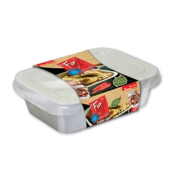 Paper Container w/ Lid 16oz - White