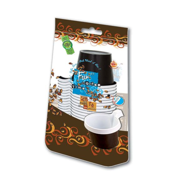 Plastic Cappuccino Cup 5oz - Brown