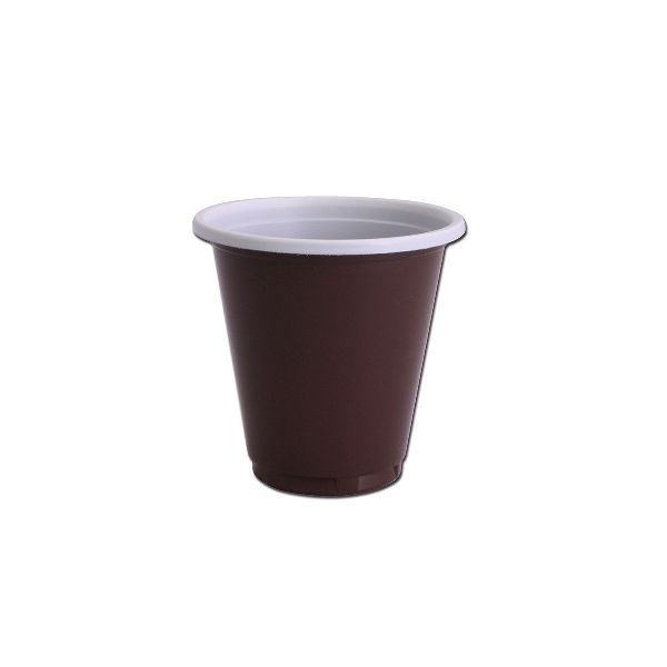 Plastic Cups 3oz - Brown/White PP