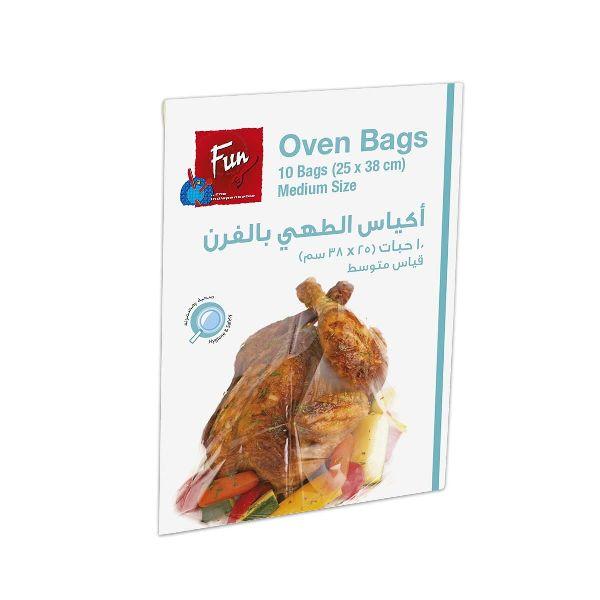 Plastic Oven Bags 25x38cm w/ Tie Wire - Medium