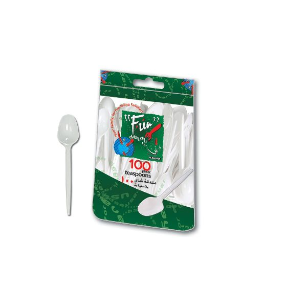 Plastic Teaspoon 5in - White