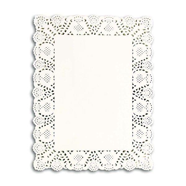 Rectangular Paper Doily 14x18in - White