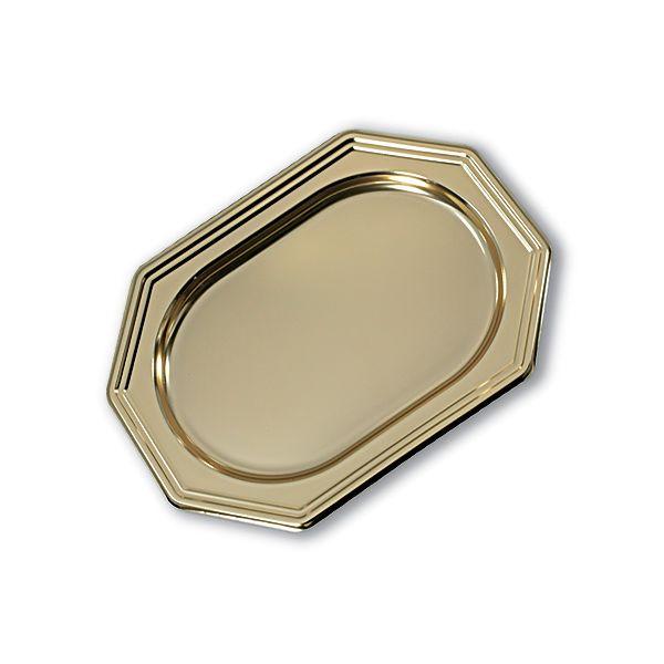 Royal Octagonal Platter 27x19cm - Goldg