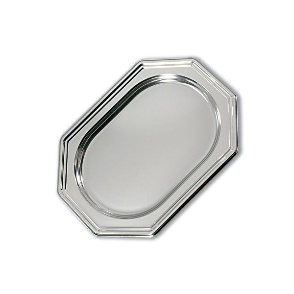Royal Octagonal Platter 36x24cm - Silver