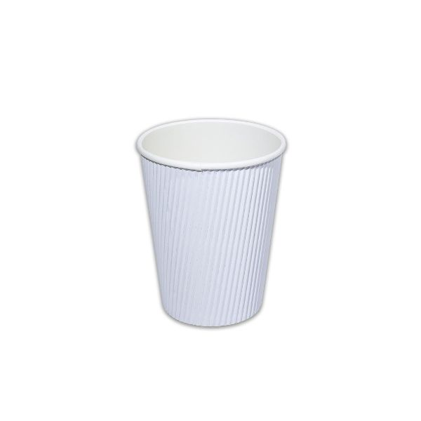 Ruffles Insulated Paper Cup 12oz - WHITE